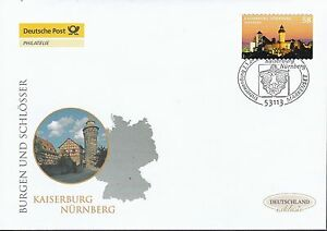 Brd 2013 Deutsche Post Fdc Minr Topical Stamps 2978 Selbstklebend Kaiserburg Nürnberg With Traditional Methods