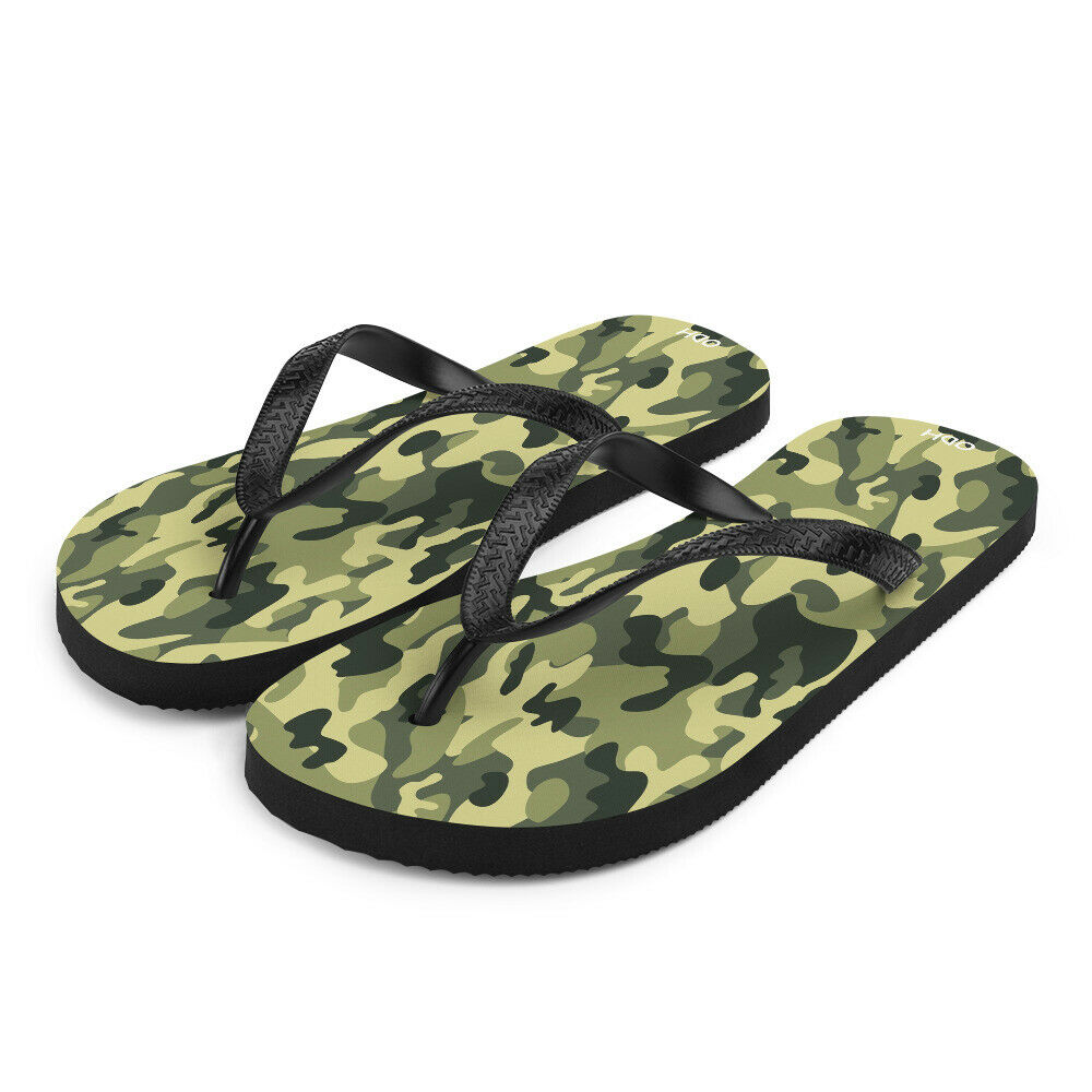 Flip-Flops Camouflage Flip Flops Camouflage Beach Shoes Shower Thong Sandals