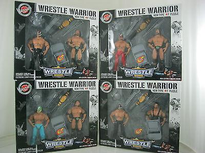 Stock Clearance On Pack Of 2 Wrestle Warrior Figures Wrestle King Ausgezeichnet Im Kisseneffekt