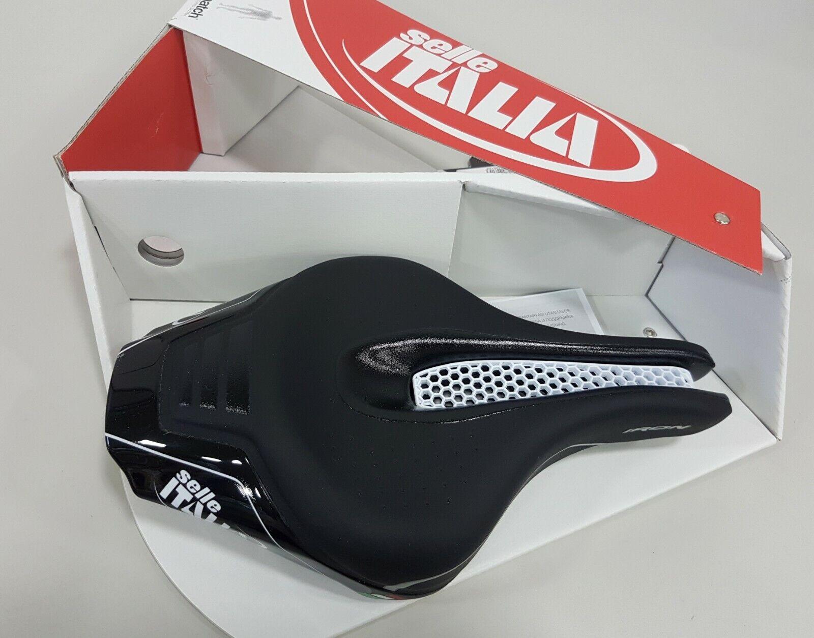 Selle Italia flujo de hierro L3 145x265mm TI 316 Cocheril Sillín De Bicicleta Negro