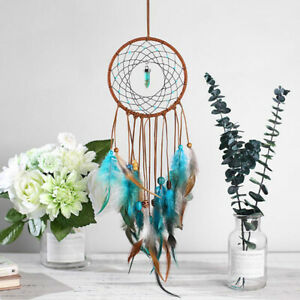 Circular-Colorful-Feather-Dream-Catcher-Wall-Hanging-Ornament-Decoration