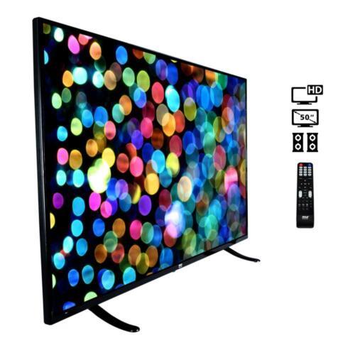 "HD Flat Screen TV 1080P 1920 x 1080 5000:1 NEW Pyle PTVLED50 50/"" LED TV"