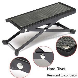 guitar player foot stool rest stand adjustable 4 5 to 9 5 electric acoustic ebay. Black Bedroom Furniture Sets. Home Design Ideas