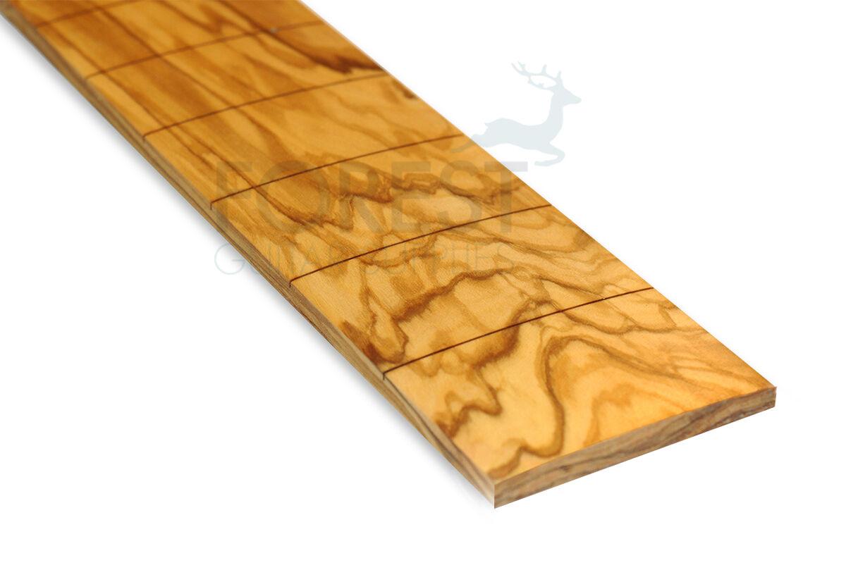 Olive Wood Guitar Fretboard 25   Prs Scale, Slotted, Ccompound Radius