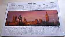England London Houses of Parliament Calendar 2004
