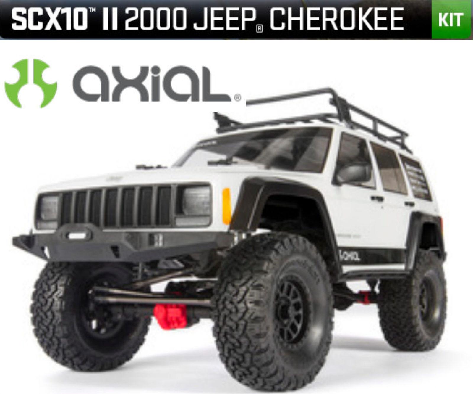 Axial Ax90046 Scx10 II 2000 Jeep Cherokee 4wd Kit Kit di Costruzione 1-10