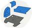 Ford-Worldwide-Q-Cab-4-amp-6-Cyl-Flat-Deck-Trim-Kit-Blue-Sound-Proofing-Vinyl-Foam thumbnail 15