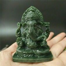 "GANESHA STATUE 2.55"" Small Resin Stone Hindu Elephant God Lord India Figurine #1"