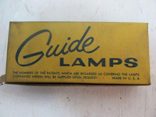 10 Vintage NOS Guide  6 VOLT Auto light bulbs 187189  W 44