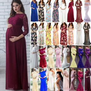 Maternity-Pregnant-Women-Lace-Long-Maxi-Gown-Party-Dress-Photography-Photo-Props