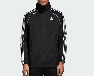 Adidas Originals Homme Sst Superstar Windbreaker Veste Manteau Noir Xl Neuf-afficher Le Titre D'origine Belle Et Charmante