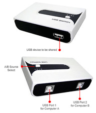 USB 2.0 Switch for Printer Hub Device Sharing w/Cables