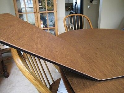 CHESTNUT LEATHER TONE CUSTOM DINING TABLE PADS KITCHEN PAD COVER PROTECTION  | eBay