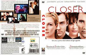 DVD FILM THRILLER MOVIES,CLOSER,JULIA ROBERTS JUDE LAW CLIVE OWEN intrigo,amanti