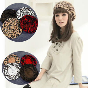 42a8011d2 Details about Women French Style Leopard Print Wool Soft Winter Warm Beret  Beanie Hat