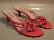 COLDWATER CREEK Women's Sandals Shoes Slip BRAZIL Leather Pink Sz 9M GUC Rare