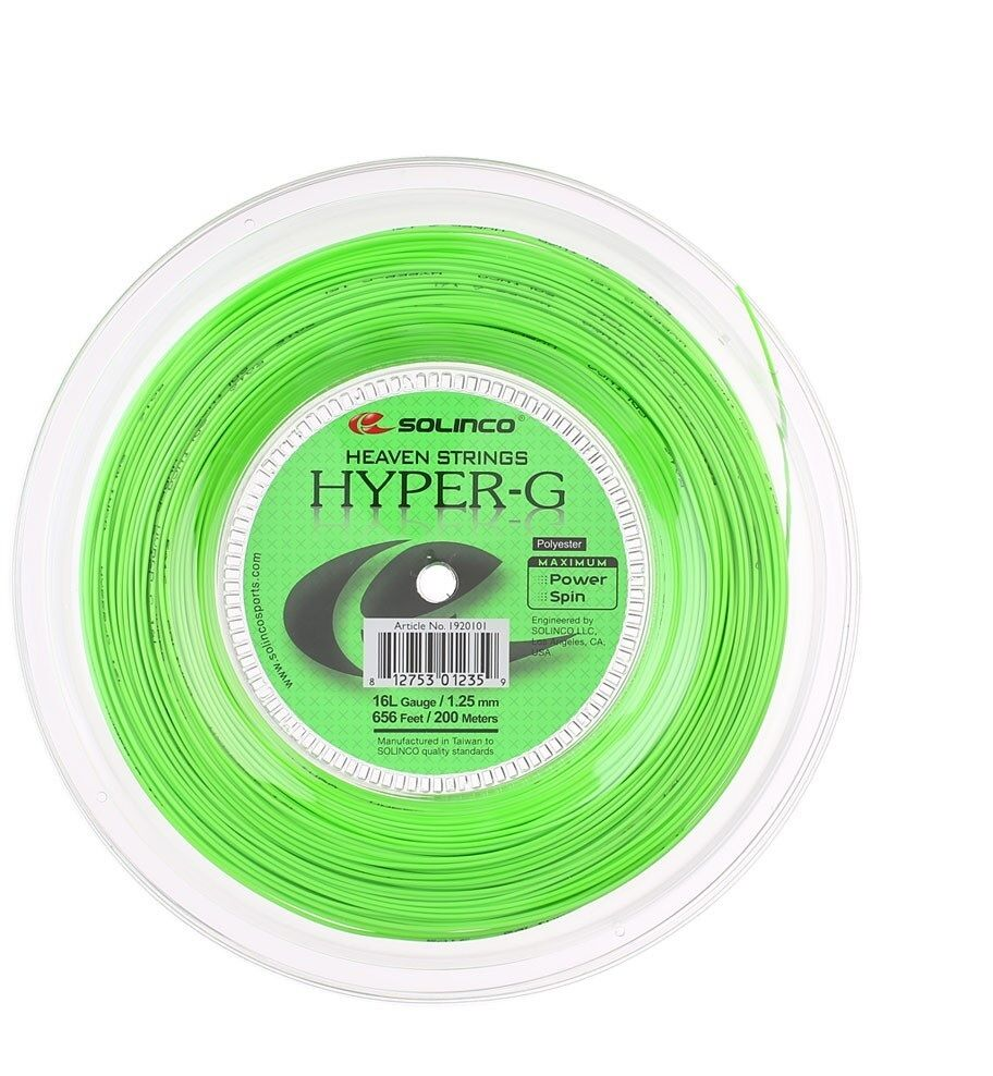 Solinco hyper-g 16L / / / 1.25 mm Tennis stringa 200m Reel-Verde ad4b10