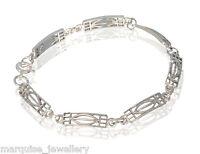 925 Sterling Silver Rennie Mackintosh Rose Bracelet. Marquise.