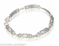 925 Sterling Silver Rennie Mackintosh Rose Bracelet. Marquise.