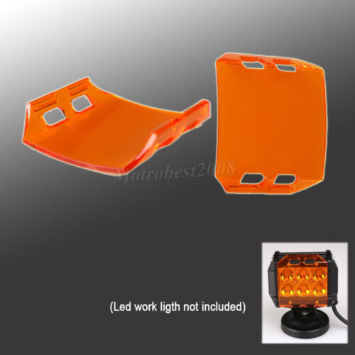 2x Amber LED Work Light Bar Protective Cover for 4/'/' inch 18W Fog ATV OffRoad