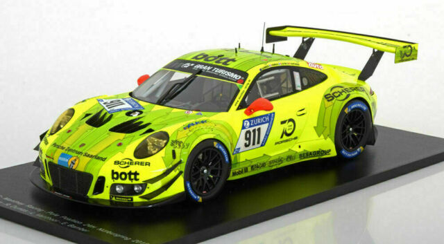 Porsche 911 gt3 R Manthey Racing # 911 VLN nurburgring 2017 1:18 Minichamps nuevo