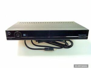 Telestar-Diginova-10-HD-digitaler-HD-Sat-Receiver-schwarz-DEFEKT-NOT-OK