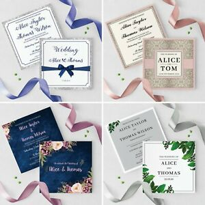 Wedding-Invitations-Personalised-Day-or-Evening-Reception-Invites-amp-Envelopes