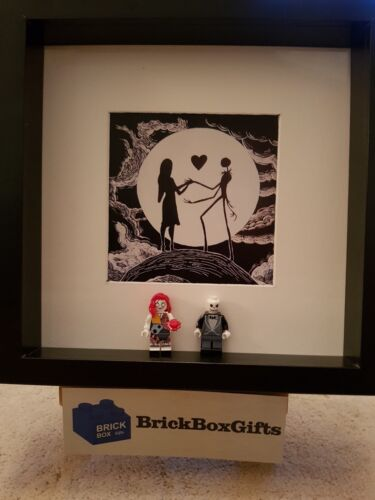 Nightmare Before Christmas Figurine Cadre 3D Jack Sally Tim Burton B /& W