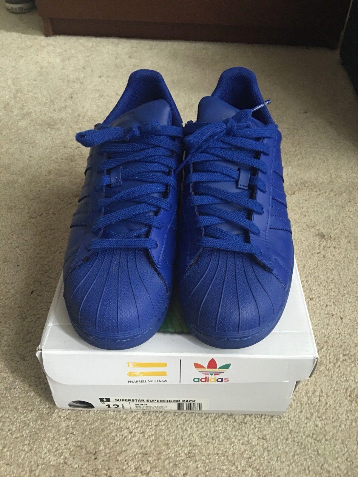 Adidas Pharrell Williams Superstar Supercolor Pack (Royal bluee, S41814) Sz. 12.5