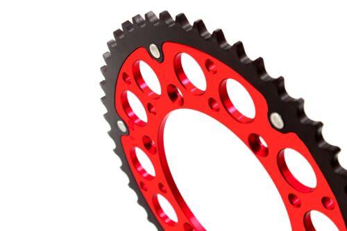 REAR RED HYBRID 51T SPROCKET FIT SUZUKI RM125 RM250 DRZ400E//S//SM RMZ250 RMZ450