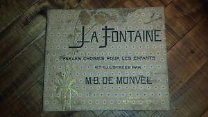 LA-FONTAINE-Fables-Choisies-Pour-Les-Enfants-M-B-De-Monvel-Illustrated