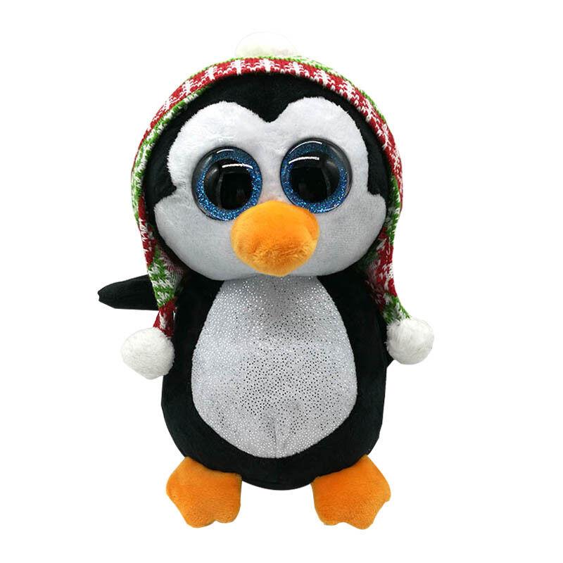 TY Beanie Boos XL Extra Large 25in (63cms) Penelope Penguin Xmas Glitter Eyes