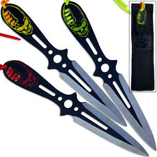 League of Legends Katarina Knife Set Double Edged 8in Throwing Knives 3pcs Skull