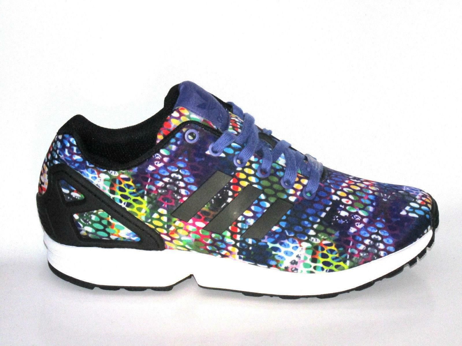Wo Hommes ADIDAS ZX FLUX S77433 Violet Snake Casual Trainers S77433 FLUX 47086a
