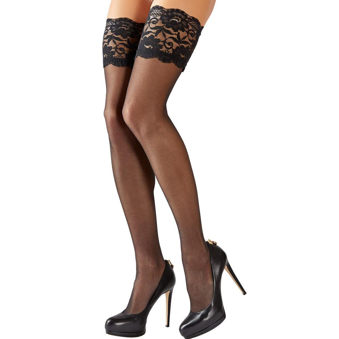 Sexy Halterlose Damen Strümpfe Nylons Silikon stockings M L XL 2XL