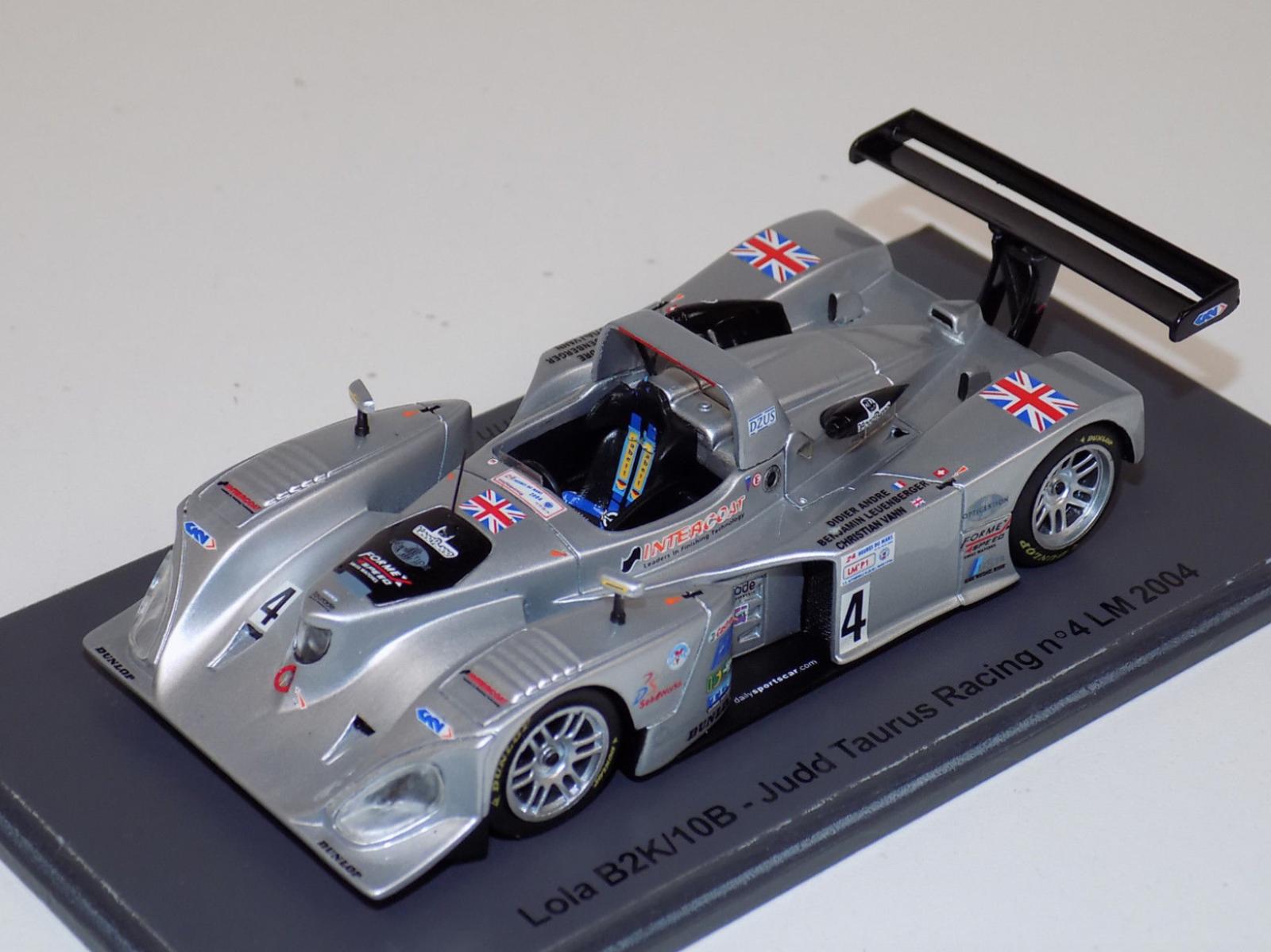 1/43 Spark Models Lola B2K/10B  4 Judd 24 Hours of LeMans 2004 S0030 TR