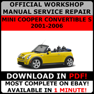 OFFICIAL-WORKSHOP-Repair-MANUAL-for-MINI-COOPER-CONVERTIBLE-S-2001-2006