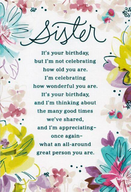 Happy Birthday Greeting Card.Hallmark Happy Birthday Sister It S Your Birthday Greeting Card