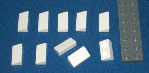 4547489 Brick 85984 10x LEGO NEW 1x2x0.66 White Slope 31°
