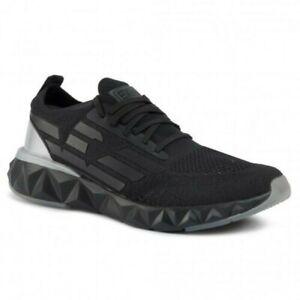 EA7 Baskets Emporio Armani Homme X8X048 XK113 2020 Chaussures Noir Tissu