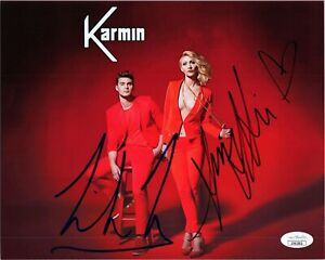 AMY-HEIDEMANN-amp-NICK-NOONAN-Authentic-Hand-Signed-034-KARMIN-034-8x10-Photo-JSA-COA