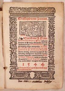 CRISTOFORO-PORZIO-LECTURA-IN-PRIMUS-INSTITUTIONUM-ISTITUZIONI-GIUSTINIANO-1544