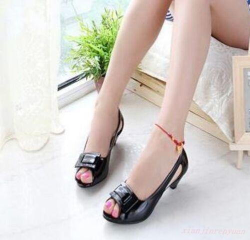 Chic  Womens Pumps Casual Sandals Kitten Heels Court Dress Cuban Peep Toe Shoes