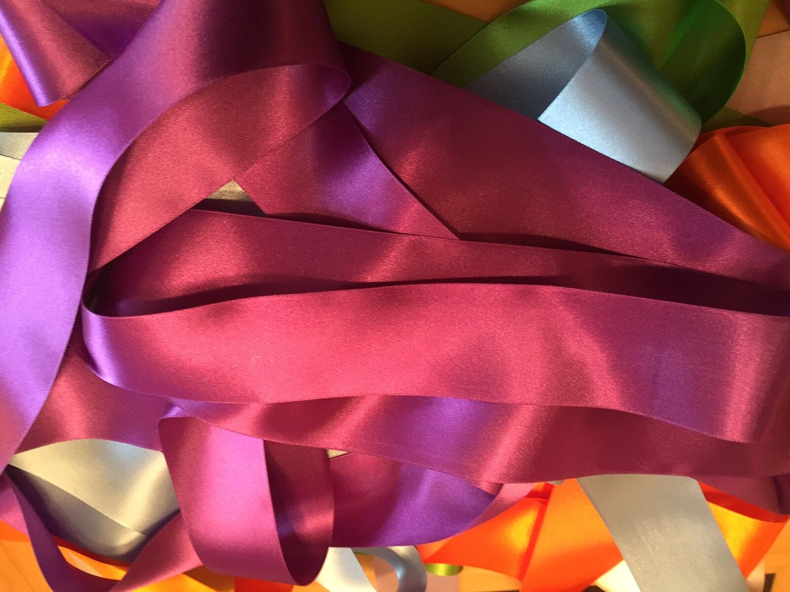 Many NEW Colours 1-5m Best Quality SATIN RIBBON 3~50mm Various Sizes