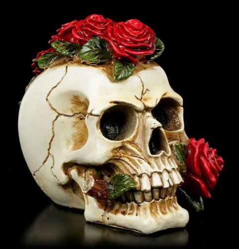 Deathly Proposal Totenkopf Gothic Schädel Deko Statue Rosen