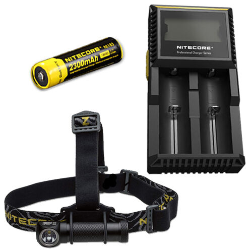Nitecore HC30W Neutral White LED Headlamp 1000Lm w  D2  Charger & 2300mAh 18650  outlet online