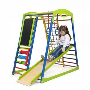Image Is Loading Kid 039 S Baby Children Wood Slide Playground