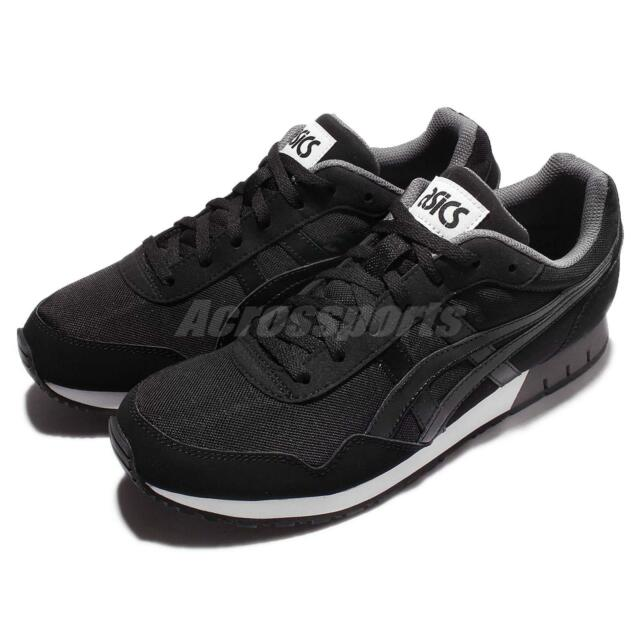 1329154faa35 Asics Tiger Curreo Black Grey White Men Running Casual Shoes Sneakers  HN537-9090