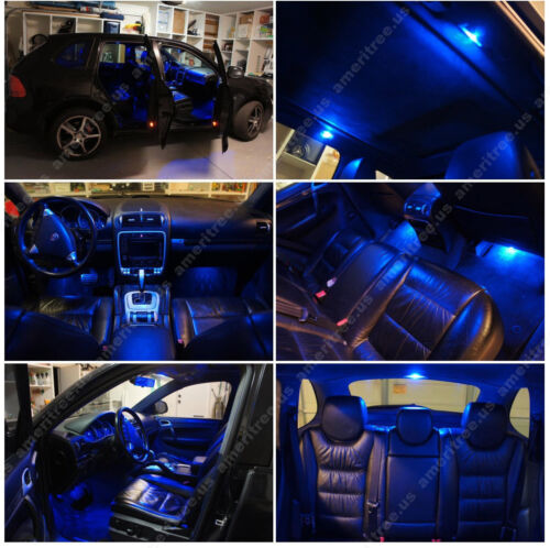 Blue LED Lights Interior Package Kit for Toyota Rav4 06-14 8 Pieces