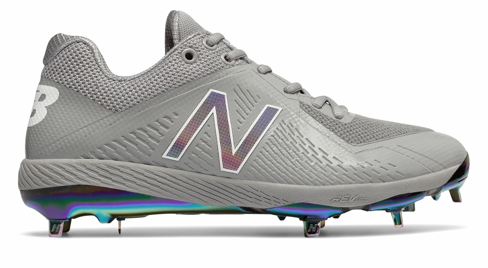 New Balance Low-Cut 4040V4 Metal Baseball Cleat Adult shoes Grey With White